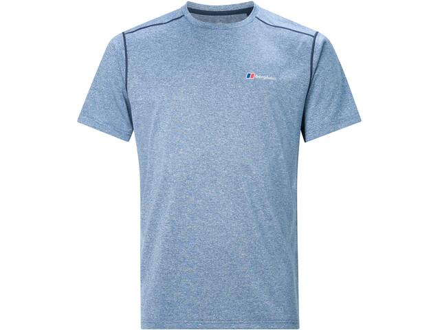 Berghaus Explrr Base Crew T-shirt Heren, deep water